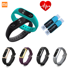 2017  Xiaomi Mi Band 2 Bracelet xiao mi miband2 Smart Heart Rate Fitness Wristband Bracelet OLED IP67 Waterproof metal starps
