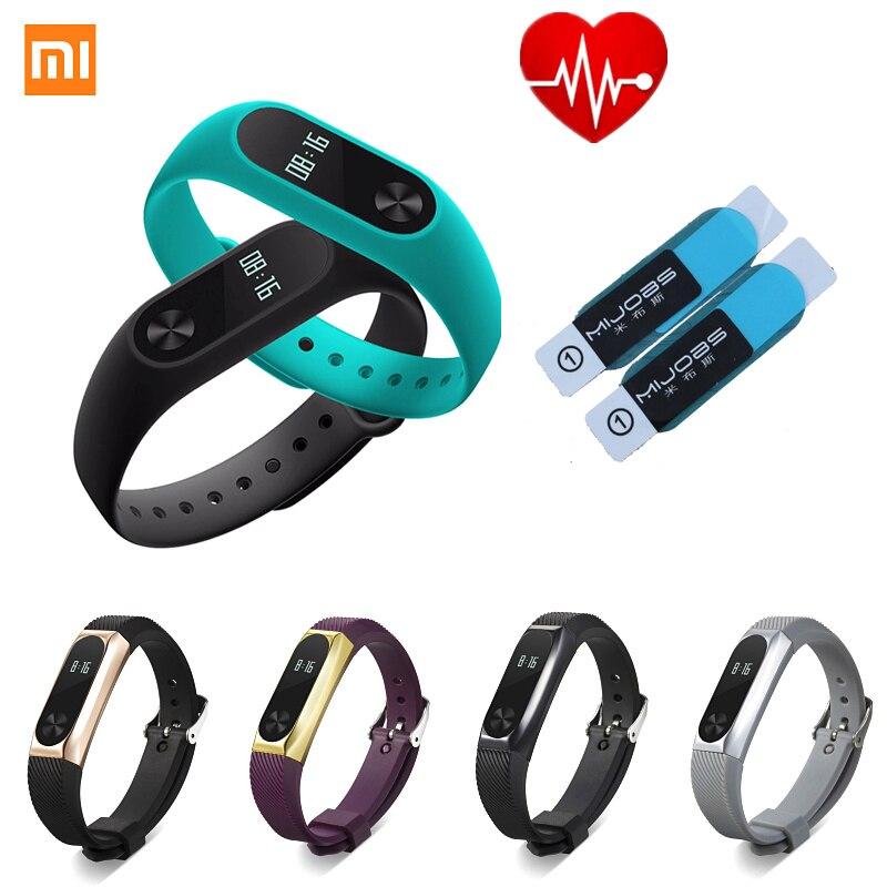 Xiaomi Mi Band 2 Armband xiao mi miband2 Smart Herzfrequenz Fitness Armband Armband OLED IP67 Wasserdichte metall starps