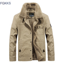 FGKKS Winter Men Jacket Men's Fashion Fl