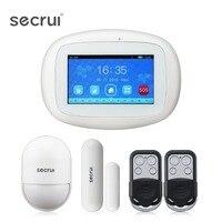 SECRUI K5 сигнализация для планшета Системы двойной будильник WCDMA WI FI Функция охранной Сенсор сигнализации P829 Беспроводной пассивный извещател