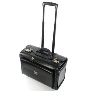 Image 3 - Novo retro de couro genuíno piloto rolando bagagem cabine companhia aérea aeromoça viagem saco sobre rodas negócios trole malas hangbag