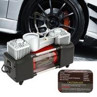 12V 150PSI Portable Heavy Duty 2 Cylinder Car Air Compressor Tire Inflator Pump Universal For Car