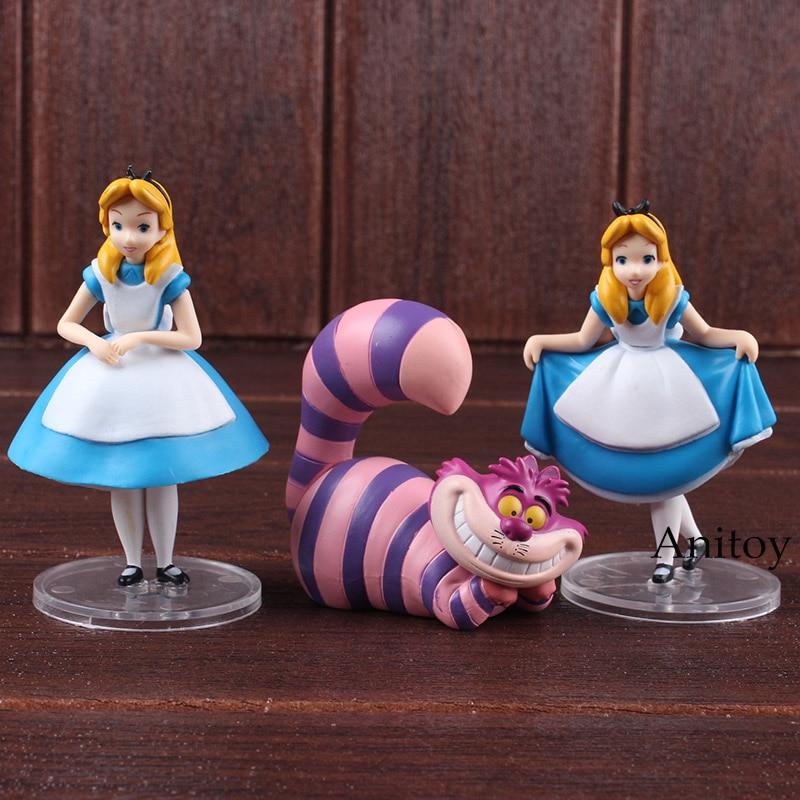 Ultra Detail Figure Alice in Wonderland Alice & Cheshire Cat PVC Anime Figure MEDICOM TOY Collectible Model Toys Dolls 3-pack disney 10cm q version snow white princess alice mermaid figure alice in wonderland ariel the little mermaid pvc figure model toy