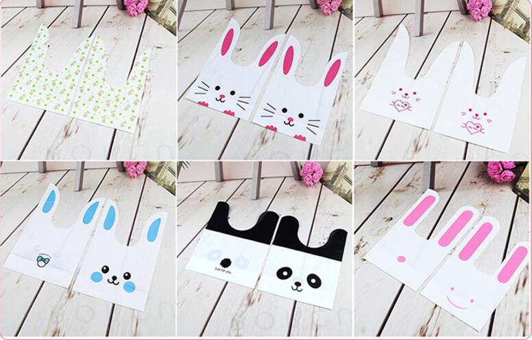 Creative Wedding Favors Cute Large Ear Rabbit Candy Box Bag Leer For You Bunny Party Baby Shower Decor