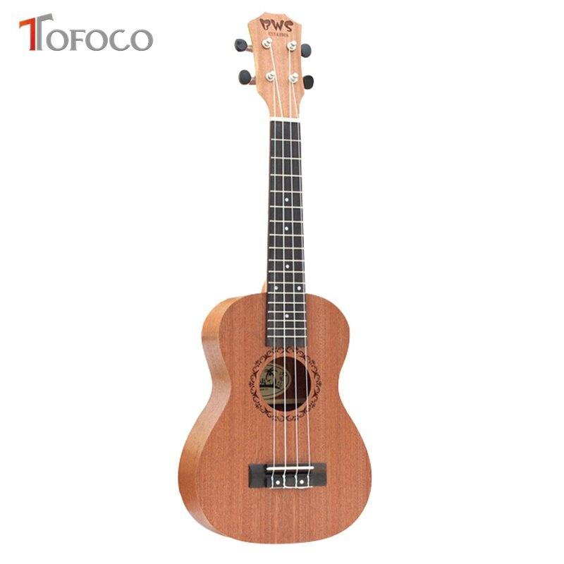 TOFOCO 21 pouces palissandre avec chaîne de reliure Mini guitare jouets pour enfants musique apprentissage jouet éducatif Instrument de musique cadeau