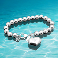 Fashion charm lady's heart shape bracelet; Korea style;Joker fashion ; 925Sterling silver ; Hot style;Solid design