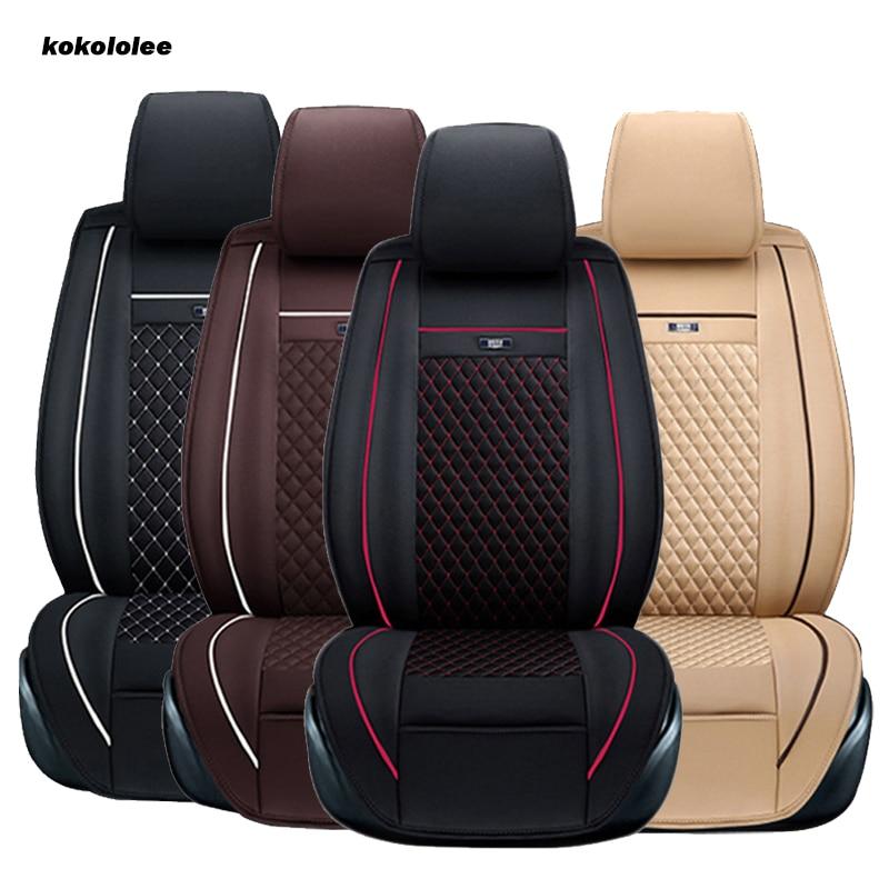 KOKOLOLEE car seat cover set for toyota chevrolet chery skoda nissan x-trail honda corolla opel astra volvo kia Car Seat Protect