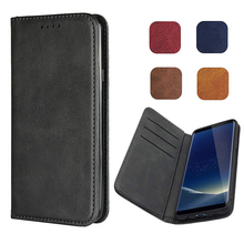 LUCKBUY Classic Leather Wallet Case Book Design with Strong Magnetic Closure Flip Cover for LG G7 V36 ThinQ Phone Cases