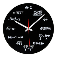2017 Hot Selling Acrylic Wall Clock Modern Design Novelty Maths Equation Art Unique Watch Clock Horloge
