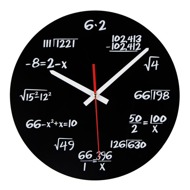 Hot Sale Acrylic Wall Clock Maths Equation Modern Design