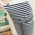 2016 summer maternity pants capris three quarter stripe trousers pregnant pants adjustable waist pants maternity leggings