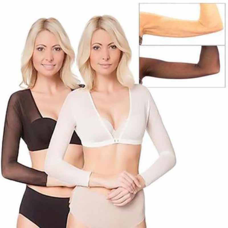 9fa05d08c0ad8 Amazing Arm Sleeve Shapewear Sexy Crop Tops Slimming Control Plus Size Seamless  Arm Shapewear Shaper Fashion