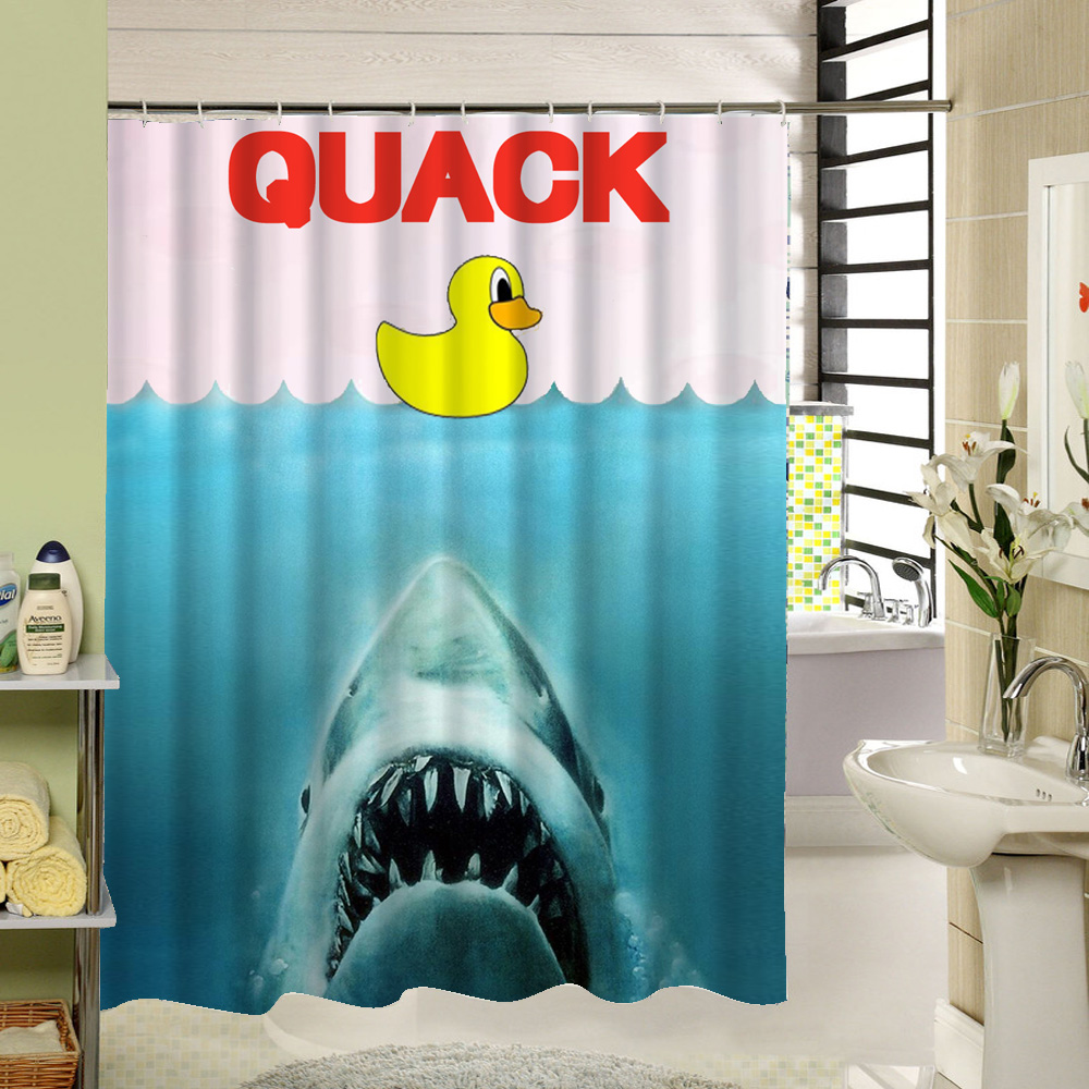 Yellow Duck Kids Bath Shower Curtain Polyester Screen Liners Animal Bird Pattern Cortina De Bano In Curtains From Home Garden On
