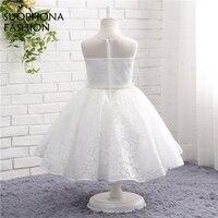 New Arrival White Ivory Lace Flower Girl Dresses 2017 A Line Vestido Daminha Vestido Curto Communion