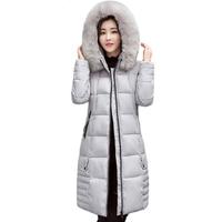 2018 plus size długie kobiety ciepła zima kurtka z kapturem futra kołnierz odzieży kobiet płaszcz solid black inverno jaqueta feminina