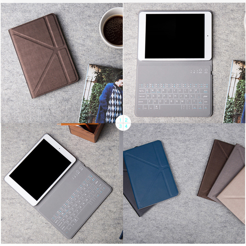 Desxz Wireless Bluetooth Keyboard Cases for iPad1 iPad Mini 1 2 3 4 Tablet PC Folding 7.9 inch Cover Ultra Thin Stand Holster ultra thin slim stand litchi grain pu leather skin case with keyboard station cover for lenovo ideapad miix 320 10 1 tablet pc