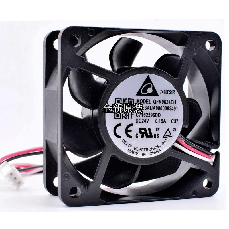 Brand new original Delta QFR0624EH 3AUA0000083491 C7162596DD 6cm 6025 60x60x25mm DC24V 0.15A Inverter cooling fan