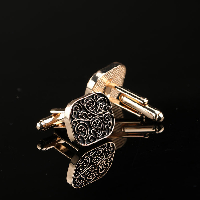 High Quality Vintage Wave Pattern Cufflinks