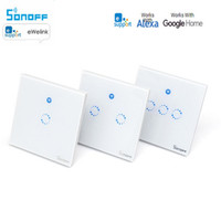 Sonoff T1 Smart Switch 1 3Gang EU UK WiFi RF 86 Type Smart Wall Touch Light
