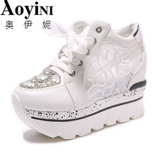 Для женщин обувь с подошвой из вулканизированной резины модные стразы женские босоножки Женские кроссовки; Дамская обувь на высоком каблуке летние женские кроссовки