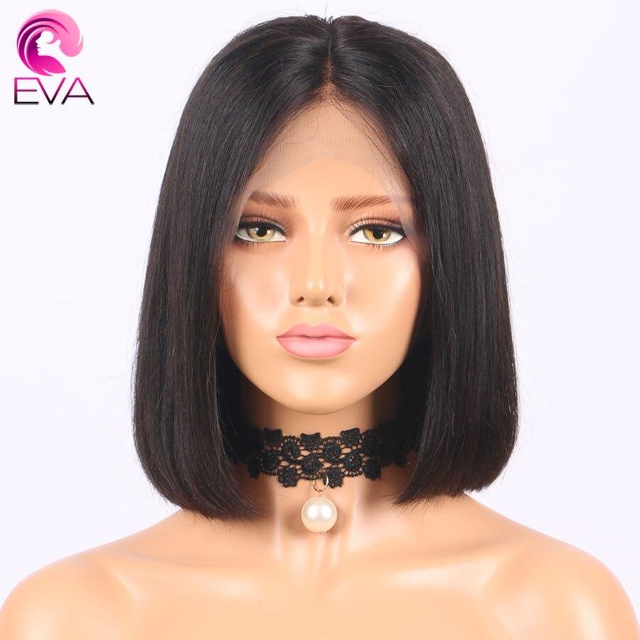 Eva Hair Pre Plucked Full Lace Human Hair Bob Wigs For