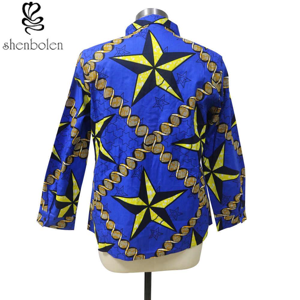 c6ef40bf24d8 ... Shenbolen African Clothes For Couples Shirt Men And Women Can Wear  Ankara Batik Wax Cotton Top ...