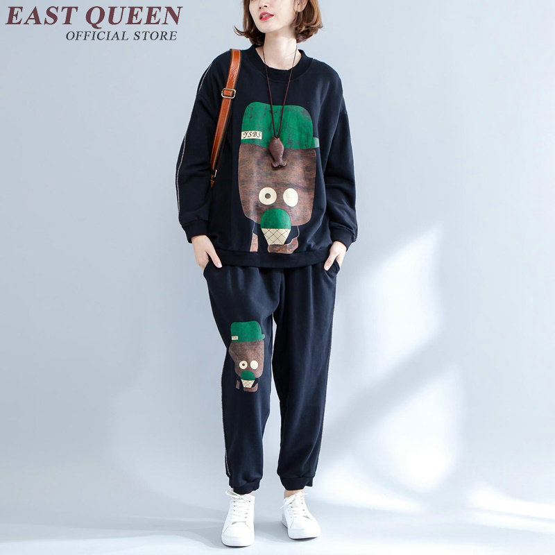 Womens two piece sets 2017 pant sweatshirt two piece set autumn women pant suit AA2907 Y 2017 autumn girl doll shirt the fashionable two piece set of pure color lotus leaf coat with harness sets tide