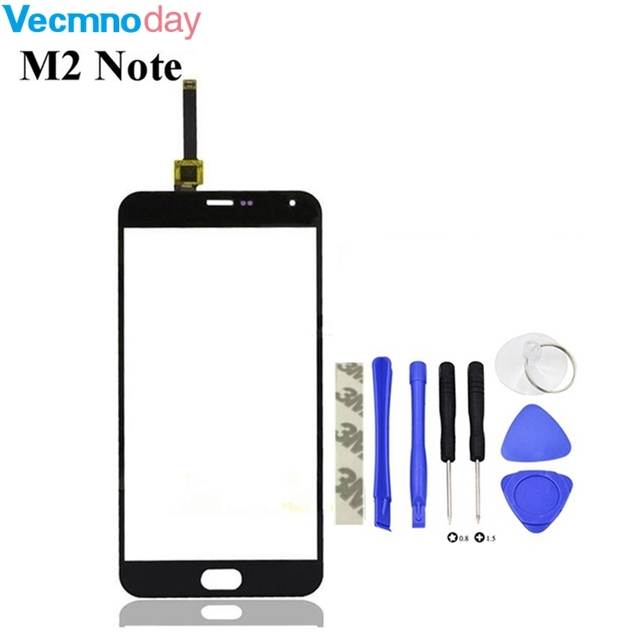Vecmnoday 5.5'' Touch Panel For Meizu M2 Note Touch Screen Outer Front Glass Screen For Meilan M2 Note Touchscreen Sensor