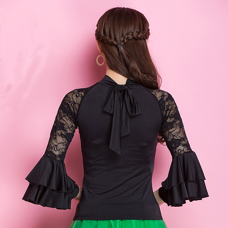 Image 5 - Fashion Modern lace long sleeve Latin Dance clothes top for women/female/girl, Tango Samba Ballroom Costume performance wearclothes for women 2013top brand for womenclothes for skinny women -