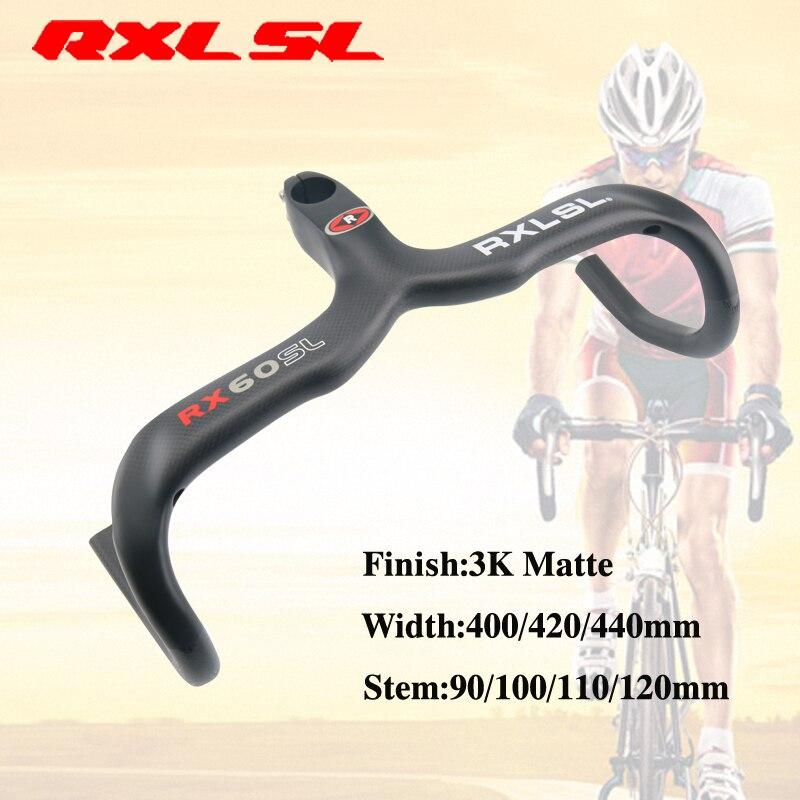 RXL SL Carbon Road bicycle Handlebar 3K Matte Bent Bar 400 420 440mm Road Bike Carbon