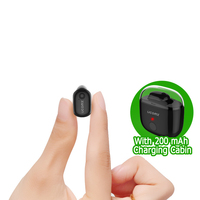 Mono Small Single Earbuds Hidden Invisible Earpiece Micro Mini Wireless Headset Bluetooth Earphone Headset With 200MAh