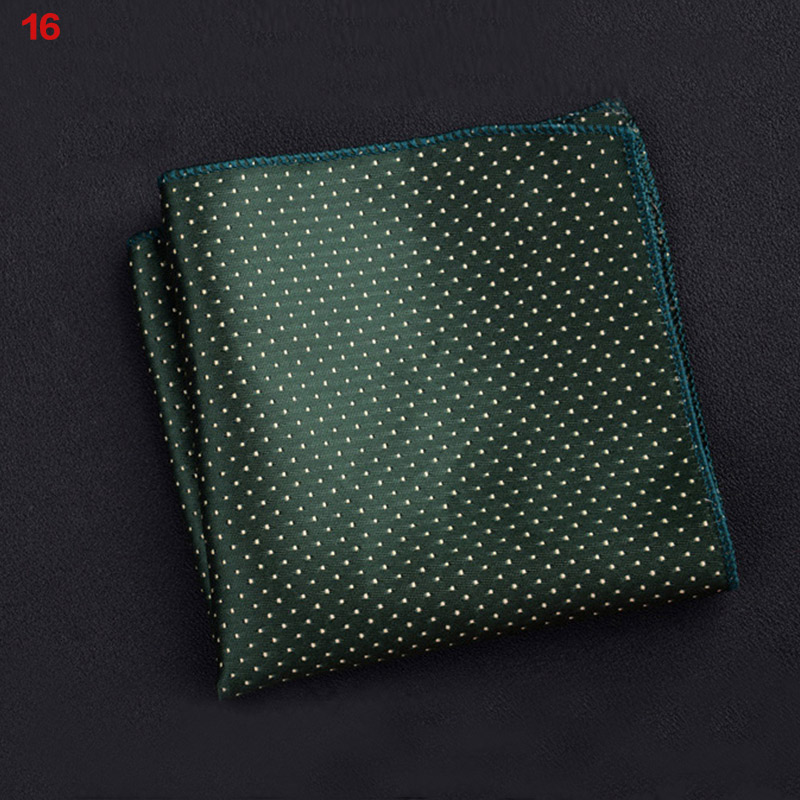 Polyester Square Towel Trendy Wedding Banquet Handkerchief Gentleman Suit Pocket Hanky NGD88