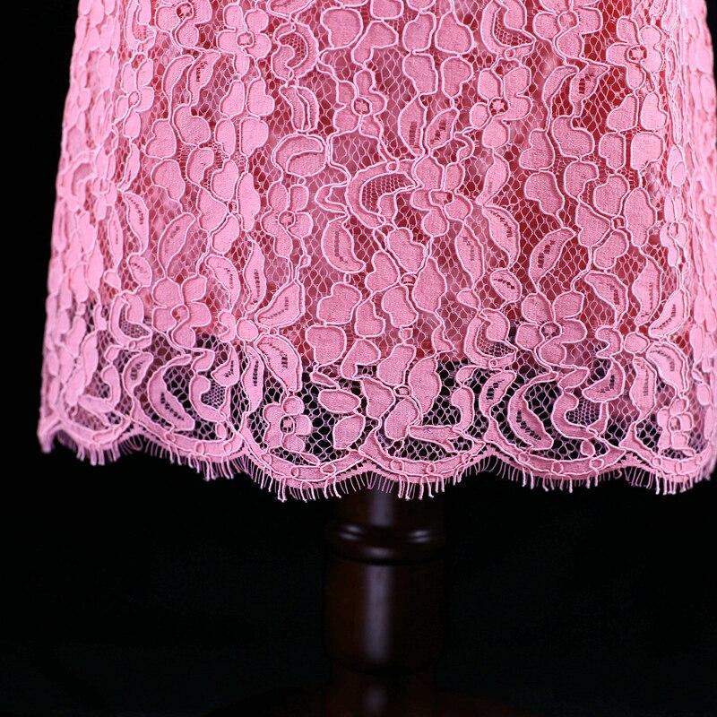 Été marque romantique rose enfants jupe enfants maman filles soirée slim bébé dentelle robe mère et fille robes assorties - 4