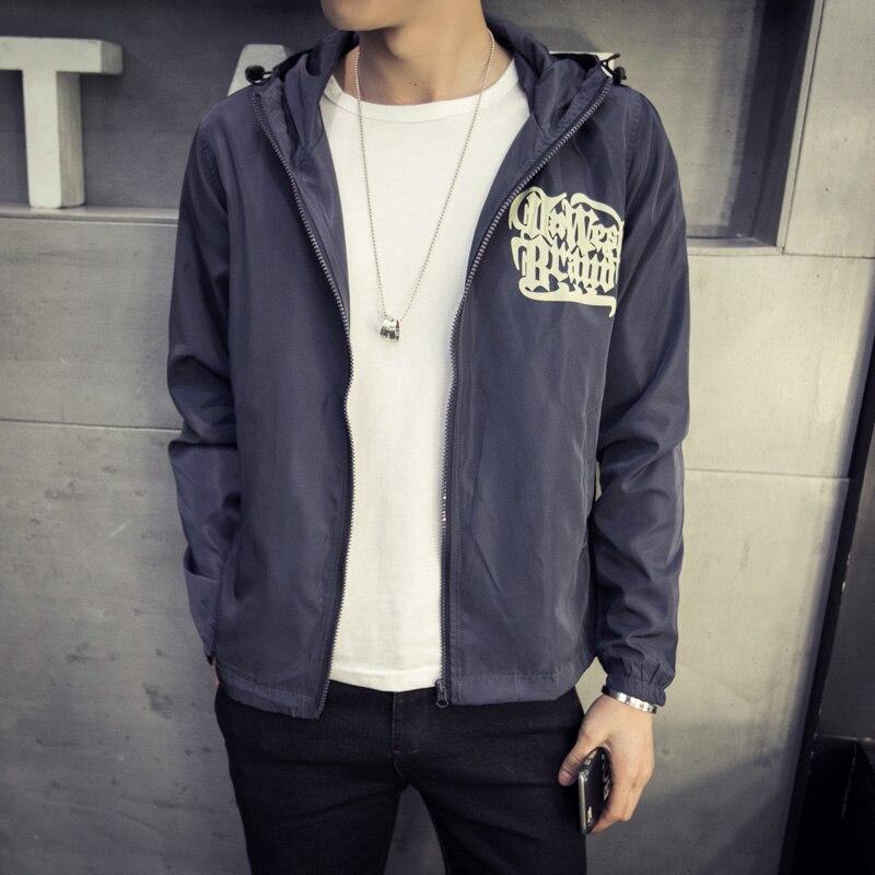2e3f13efaa52f Japan Style Jacket Men Fashion 2018 Spring New Hooded Windbreaker Jacket  Stylish Weeds Print Mens Coats Casual Mens Jackets 5XL-in Jackets from Men's  ...