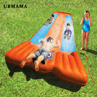 Outdoor non olet 3 person inflatable slide large wear resisting lawn surfboards inflat toy for child swimming pool accessories