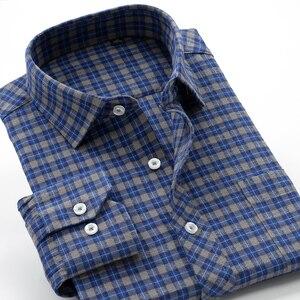 Image 5 - جديد وصول منقوشة موضة ربيع الخريف عالية qulatiy الرجال سوبر كبير السمنة 10XL طويلة الأكمام قميص حجم كبير XXL 7XL8XL9XL10XL