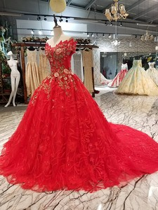 Image 3 - LS00411 1 red brides wedding party dress off the shoulder sweetheart beauty evening dress quick shipping china factory wholesale
