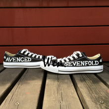 Wen Unisex Hand Painted Shoes Custom Design Casual Shoes Avenged Sevenfold Low Top Men Women's Black Canvas Shoes