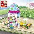 Sluban 205 pcs lepin Amigos Sorvete Casa Edifício Set B0525 Compatível com lepin menina designer original