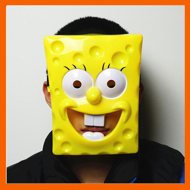 NEW COSPLAY DELICATED SPONGEBOB MASK FESTIVAL PARTY HALLOWEEN ...
