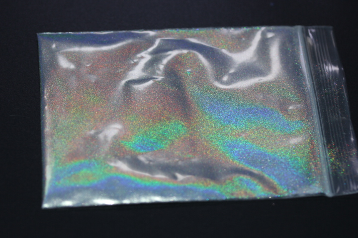Сверхтонкий 35um Серебряный Хамелеон пигмент для теней для век ногтей искусство тело Блестящий голографический пигмент