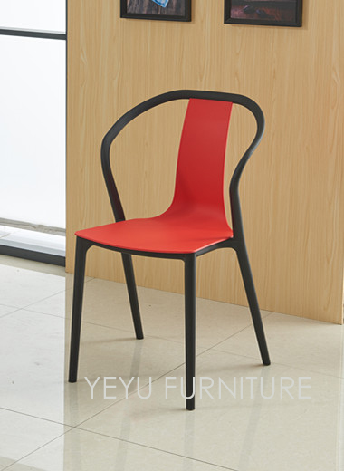 outdoor color chairs minimalist modern design double color outdoor stackable plastic