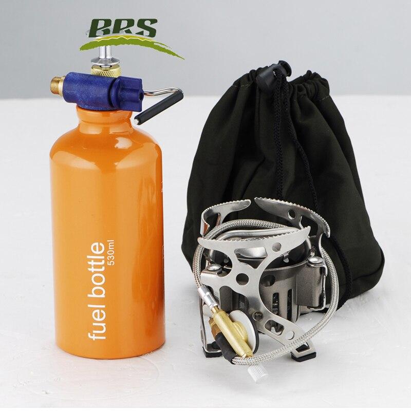 BRS 8A масло/Газ Многофункциональный кемпинг газовая плита для пикника дикий открытый приготовления портативный Сплит Кемпинг ветрозащитная газовая плита - 2