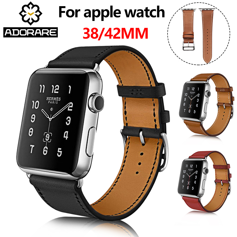 Leather Strap For Apple Watch 38/42mm 40/44mm Single Double Tour genuine Replacement Leather Band For iwatch series 1/2/3/4 leather strap for apple watch 38 42mm 40 44mm single double tour genuine replacement leather band for iwatch series 1 2 3 4