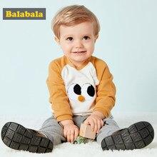 8df9a7363d806 Balabala Bébé Garçon Vêtements 2018 Automne Nordique Style Long T-Shirt  Tops + Pantalon 2 pcs Tenues Enfants Bebes doux et confo.