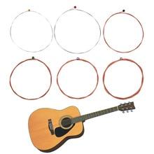 Guitar String TX620-P 6pcs Folk Acoustic Guitar Strings Hexagonal Core Bronze Guitarra Strings Music Guitar Accessories