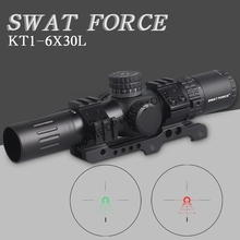SWAT FORCE 1-6X24 IR Long Eye Relief Hunting Riflescope Tactical optical sight Illuminated R&G Rifle Scope fit 30-06 308 AR15