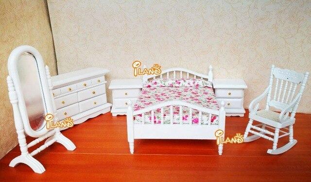 Witte Slaapkamer Meubels : Poppenhuis miniatuur meubels witte mode slaapkamer set stks