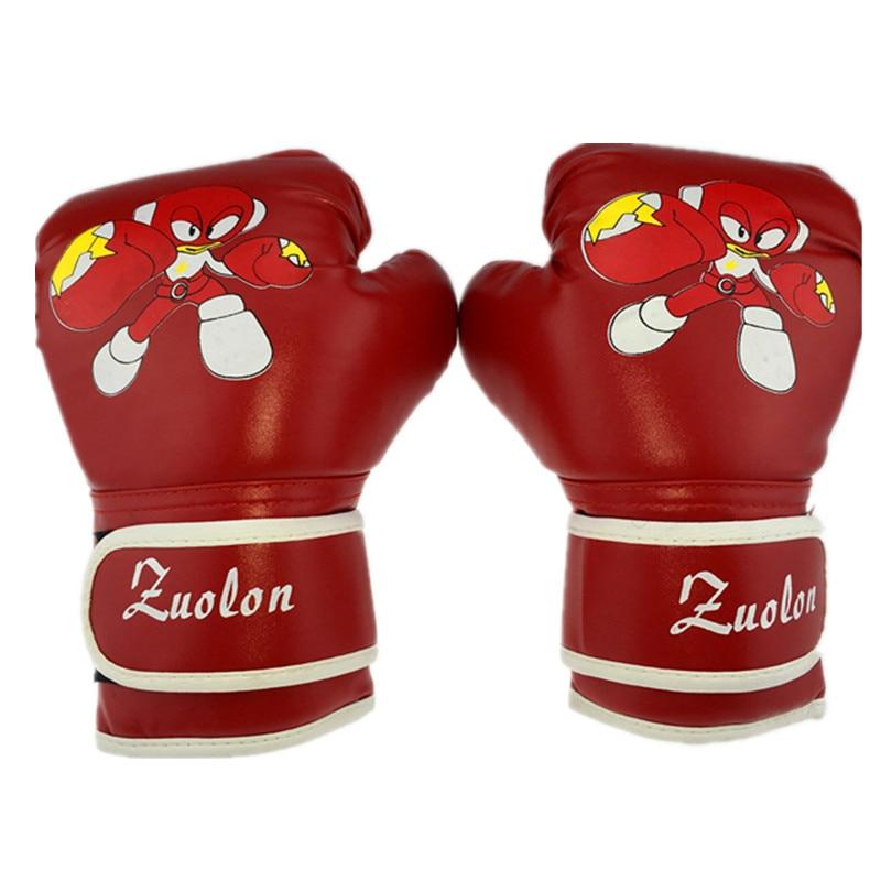 niño 1 par durable guantes de boxeo niños dibujos animados sparring