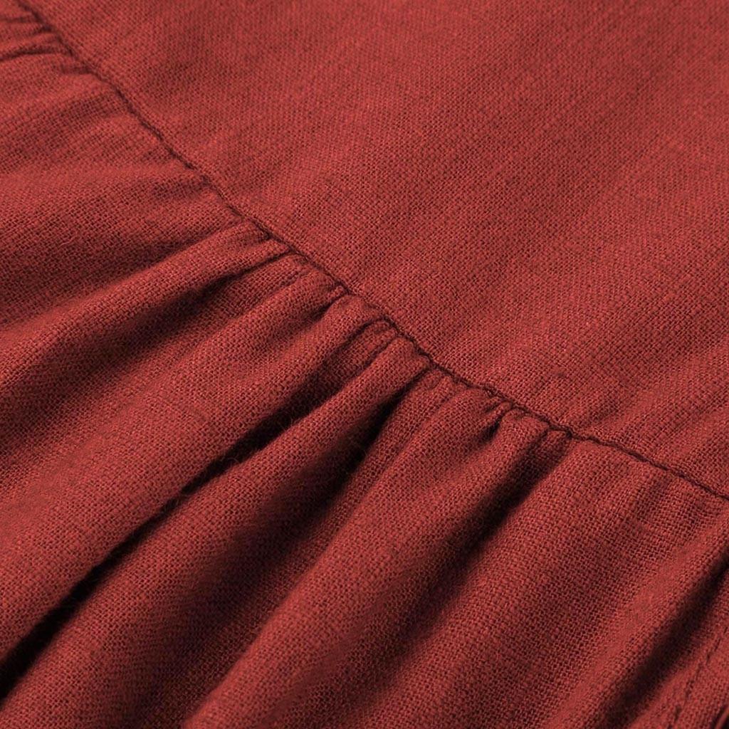 Women's V-Neck Flare Sleeve Dress Women's Blouses